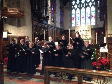 youth choir in chancel black
