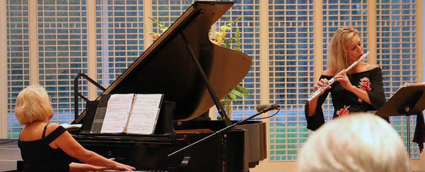 Suzanne Bona, flute with Brenda Miller, piano